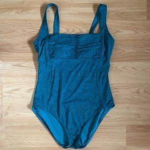 CALVIN KLEIN || Shirred One-Piece Swimsuit